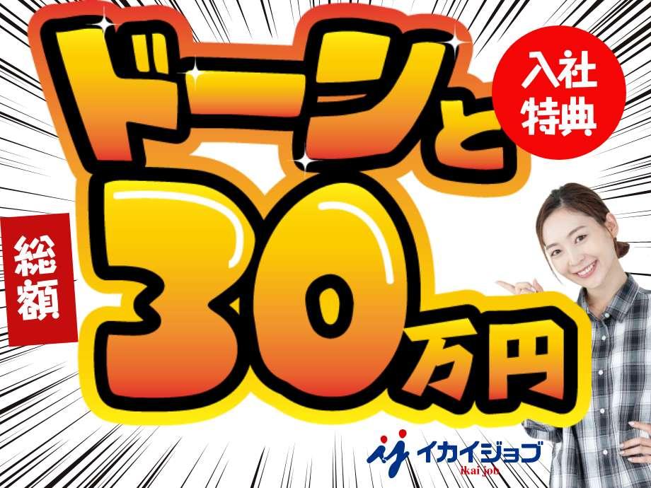 どーんと入社祝い金30万円支給します